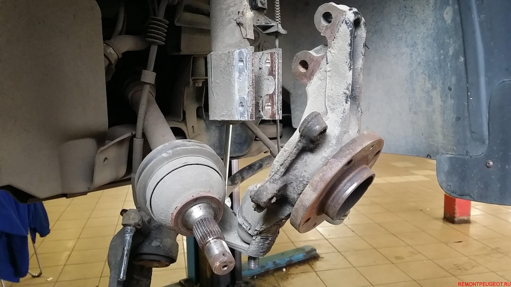 замена переднего ступичного подшипника peugeot boxer 3