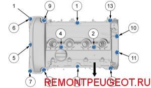 замена прокладки клапанной крышки