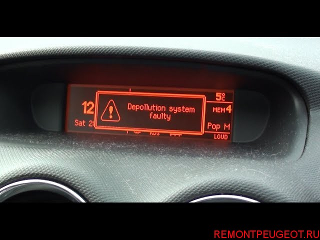 peugeot 308 сработал вентилятор ине отключался