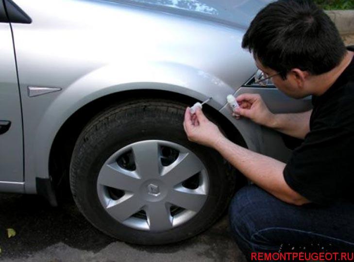Как заделать царапину на машине своими руками