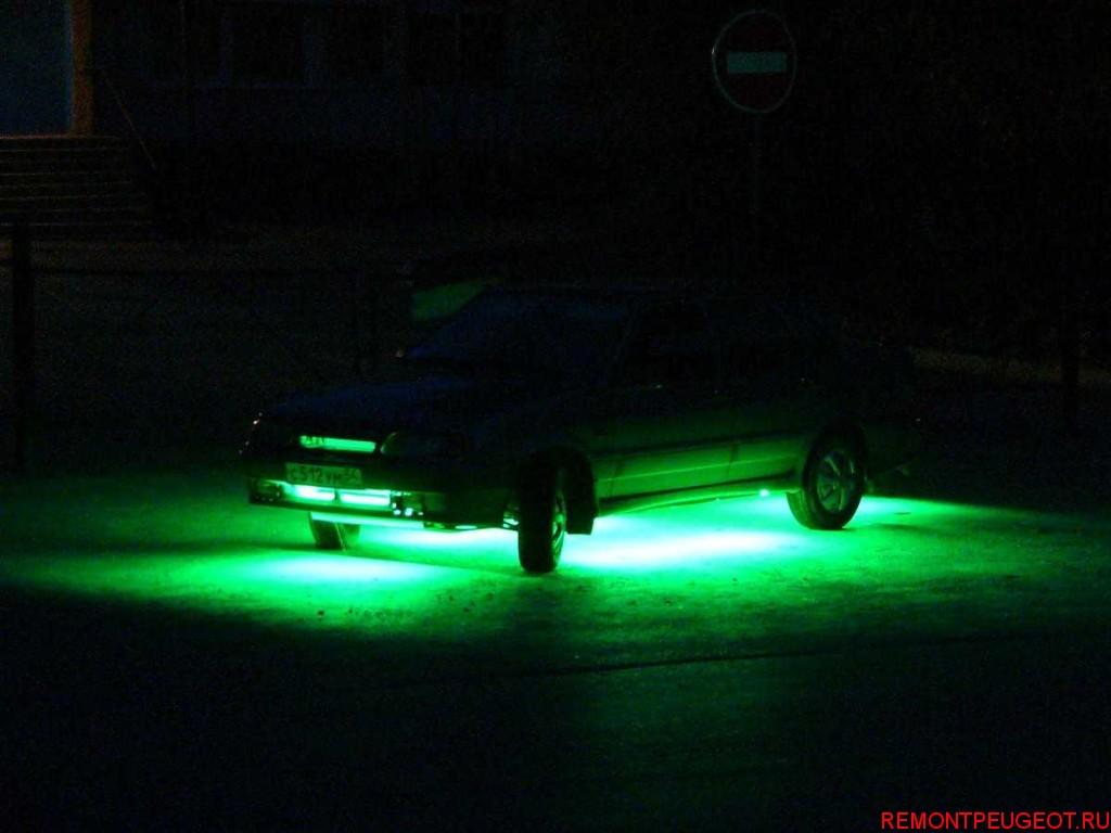Подсветка неоновая на авто