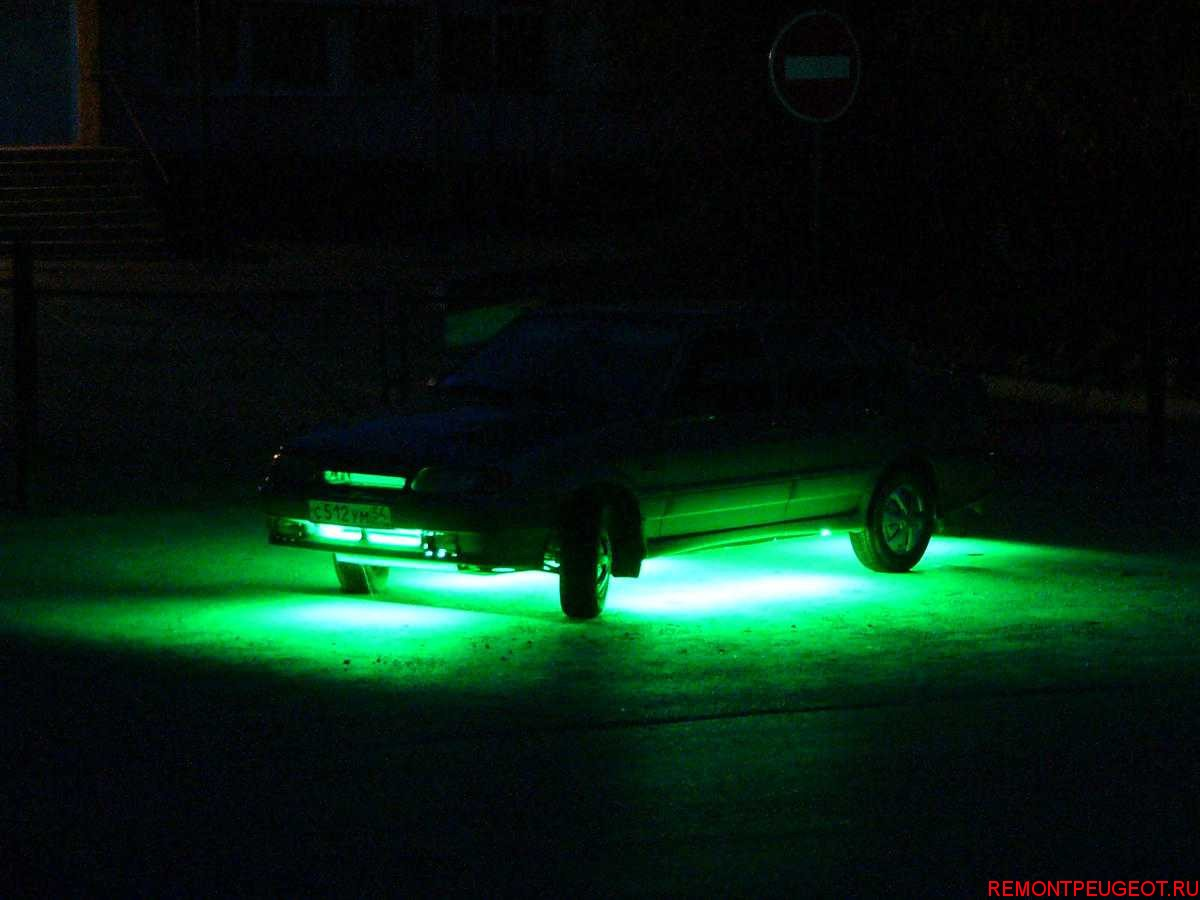 Подсветка днища автомобиля своими руками фото