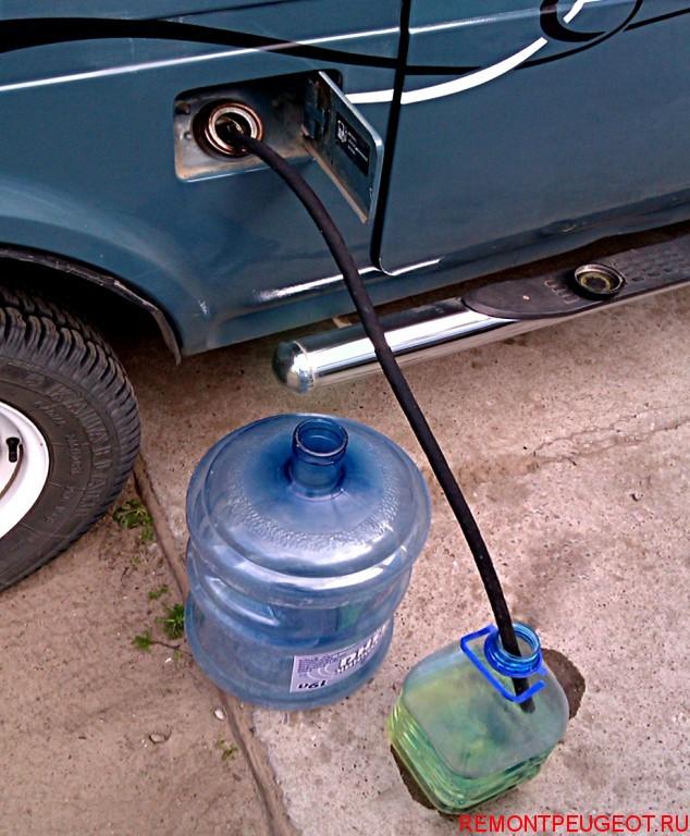 быстро слить бензин из бака