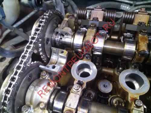 износ уплотнительных колец на распредвале двигателя EP6