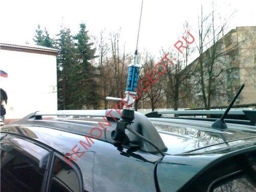 Установка антенны на автомобиль для рации