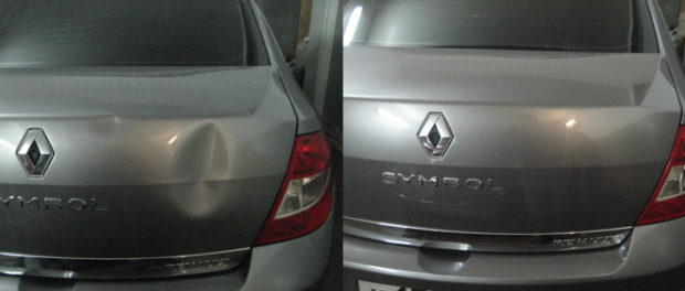как удалить вмятину кузова автомобиля без разрушения лако-красочного покрытия