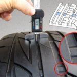 Проверка остаточной глубины протектора шин