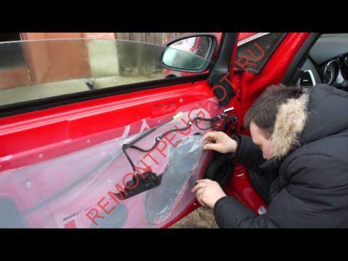 демонтаж обшивки боковой двери