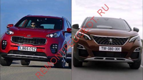 KIA Sportage и Peugeot 3008