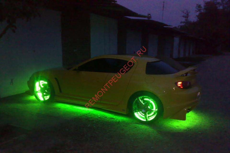подсветки днища автомобиля