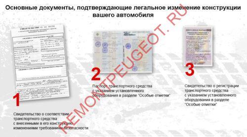 документы подтверждающие изменение конструкции ТС